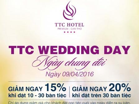 Bùng nổ quà tặng và khuyến mãi hấp dẫn tại TTC Wedding Day Cần Thơ 2016