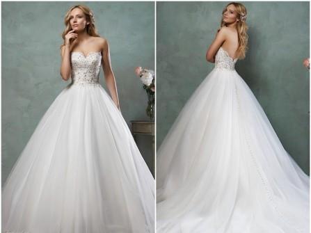 Váy cưới đẹp cúp ngực phong cách công chúa tuyệt đẹp