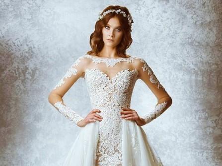 Váy cưới đẹp đuôi cá kết hợp đuôi váy rời ấn tượng
