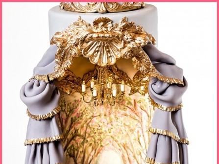 Bánh cưới đẹp phong cách hoàng gia