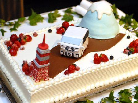 Bánh cưới đẹp gợi nhớ quê hương cô dâu chú rể