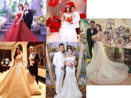 Những bộ váy cưới đẹp tuyệt của sao Việt
