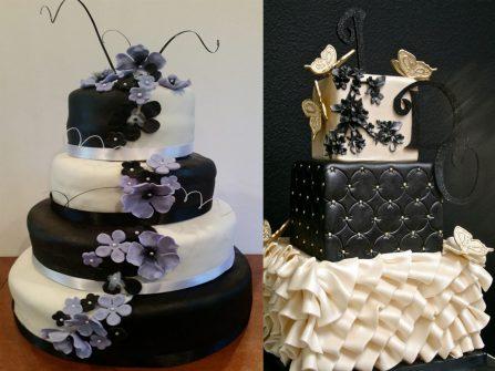 Ấn tượng bánh cưới màu đen