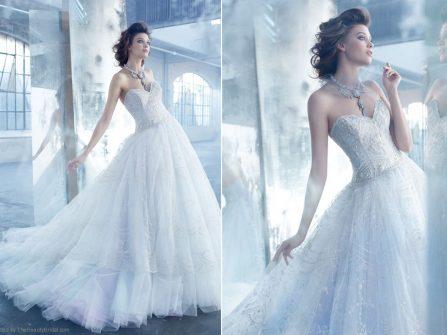 Váy cưới đẹp dáng công chúa đính kim tuyến lấp lánh