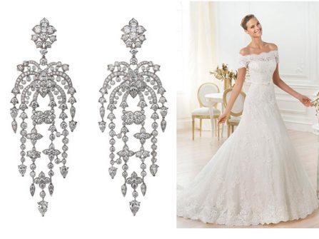 Chọn trang sức cưới phù hợp váy cưới