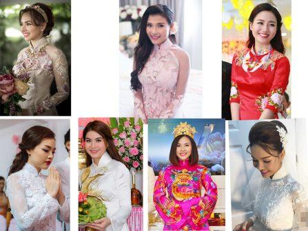 Điểm lại những bộ áo dài cưới tuyệt đẹp của sao Việt năm 2016