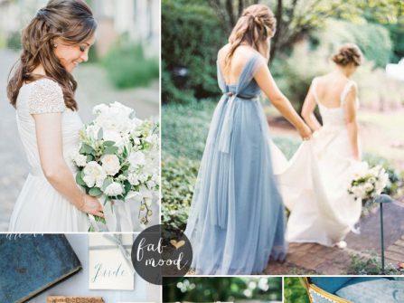 Theme cưới màu xanh thanh bình tươi mát và sang trọng