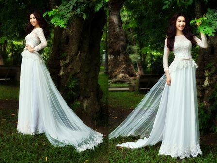 Chọn mẫu áo dài cưới giúp che khuyết điểm vóc dáng thiếu chuẩn