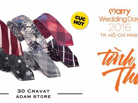 30 cravat Adam Store cho 30 bạn đăng ký sớm nhất Triển lãm cưới Tình Thu