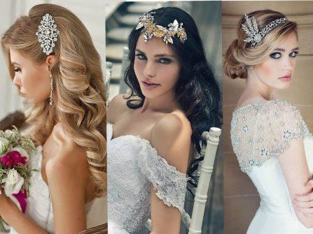 Cách phối phụ kiện tuyệt đẹp cho tóc cô dâu mùa cưới Thu Đông