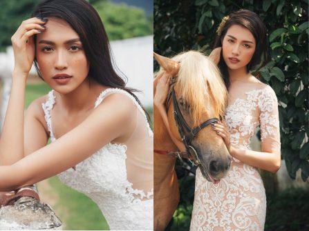 Á hậu Lệ Hằng khoe vẻ đẹp mộc trên bìa tạp chí Marry tháng 8.2016