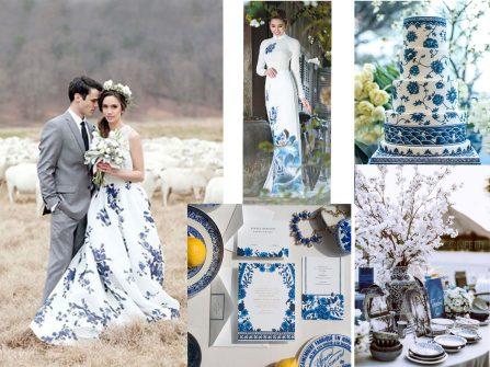 Theme cưới lấy ý tưởng từ gốm sứ đậm chất Á Đông