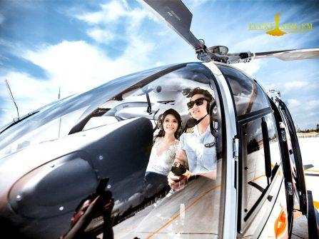 Xu hướng hot: Chụp ảnh cưới cùng trực thăng xuất hiện tại Lucky Anh và Em