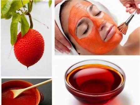 Chăm sóc da mặt cô dâu tự nhiên bằng dầu gấc