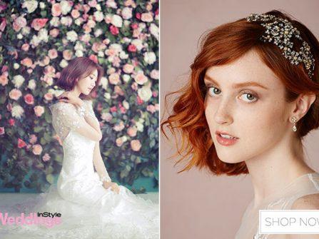 Các kiểu tóc cô dâu đẹp cho nàng tóc ngắn