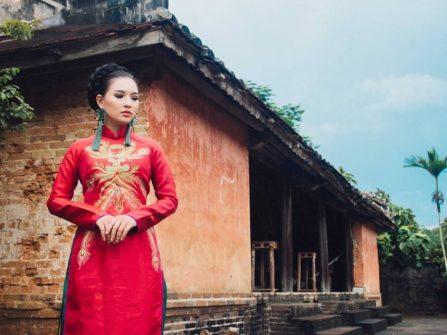 Áo dài cưới kiểu cung đình cho cô dâu hoài cổ