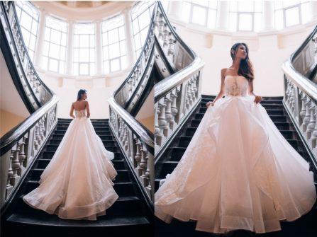 Xu hướng váy cưới đẹp phong cách tối giản nổi bật trong năm 2016
