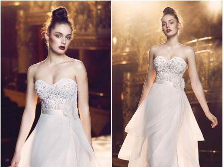 Váy cưới đẹp chất chiffon phối voan độc đáo