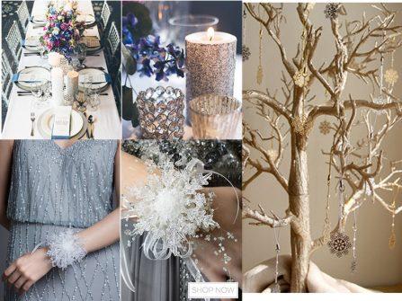 Nhấn nhá trang trí cho tiệc cưới mùa đông thêm đẹp