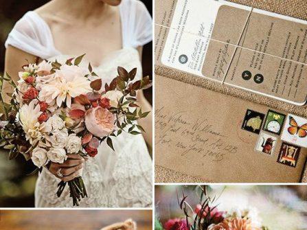 Theme cưới đẹp phong cách rustic trầm ấm cho tiệc cưới mùa Thu