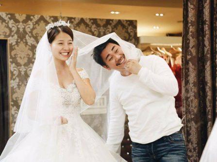 Khánh Hiền ngọt ngào trong trang phục cưới đẹp sắc hồng và trắng