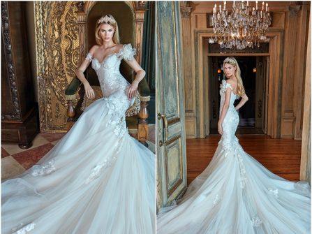 Váy cưới đẹp dáng đuôi cá phong cách công chúa sang trọng