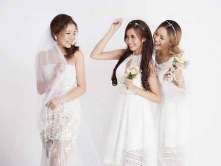 Gợi ý phối váy cưới ăn ý cùng đầm phụ dâu