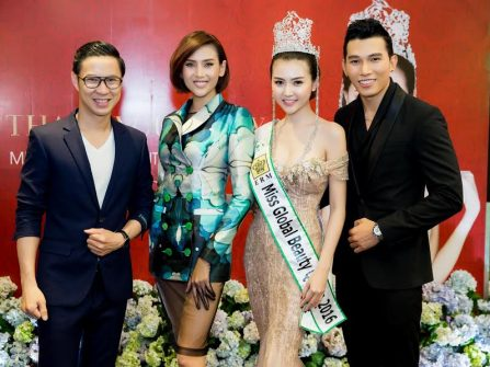 Hoa hậu Ngọc Duyên rạng rỡ trong tiệc Thank you Party