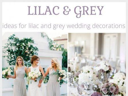 Theme cưới đẹp và lãng mạn màu xám bạc kết hợp cùng tím lilac