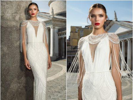 Váy cưới đẹp lộng lẫy đính hạt trai phong cách sang trọng