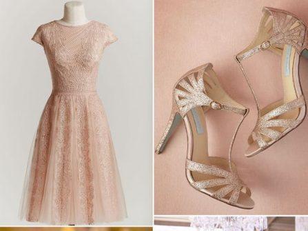 Theme cưới đẹp màu vàng hồng ánh kim thời thượng