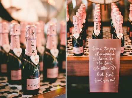 Quà cảm ơn khách mời: Chai rượu champagne nhỏ xinh