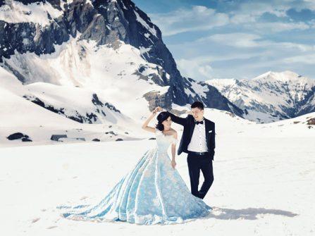 23 bức ảnh cưới đẹp tựa chuyện thần tiên giữa tuyết trắng xóa