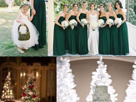 Mang 3 sắc màu đặc trưng Noel cho tiệc cưới cuối năm thêm tưng bưng