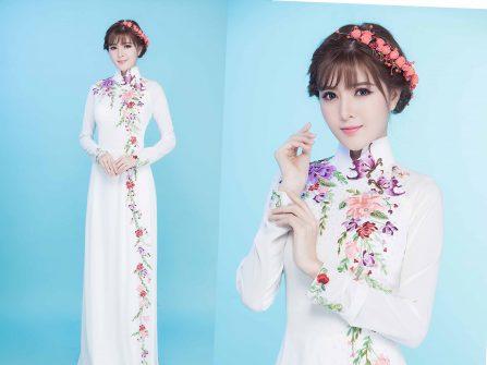 Chọn thiết kế áo dài xuân tươi trẻ như hot girl Lily Luta