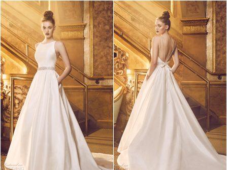Váy cưới đẹp dáng xòe phong cách tối giản hiện đại