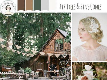 Theme cưới đẹp với tông gỗ trầm và xanh rêu mộc mạc