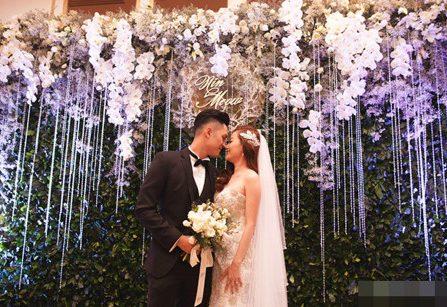 Cô em gái hot girl của Quang Vinh lộng lẫy trong đám cưới cổ tích