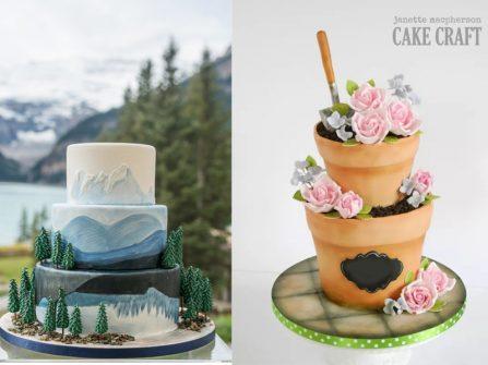 Ngắm no mắt bánh cưới đẹp lấy ý tưởng từ thiên nhiên