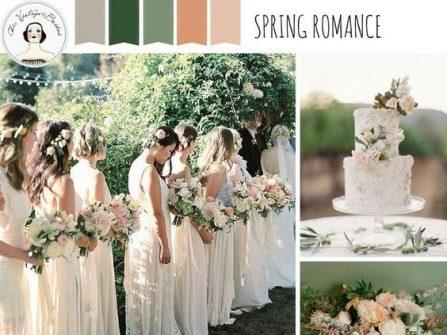 Theme cưới đẹp tông xanh lá tươi mát cho mùa Xuân đầy sức sống