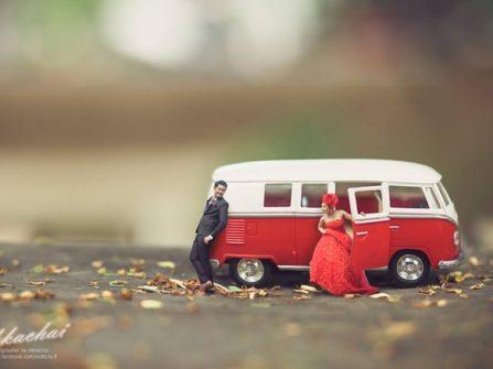 Khám phá bí quyết chụp ảnh cưới người tí hon đang làm mưa làm gió