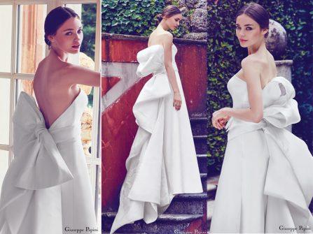 Váy cưới đẹp kết nơ làm say lòng phái đẹp từ Giuseppe Papini