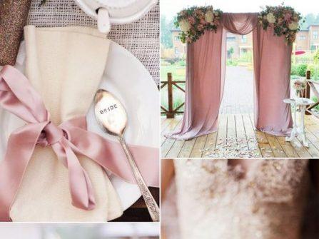 Lãng mạn với theme cưới đẹp kết hợp sắc hồng và xanh Greenery