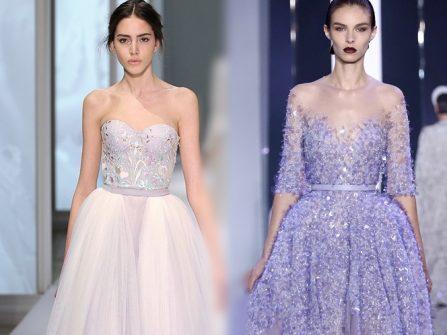 Đầm cưới đẹp với sắc tím - sến hay sang?