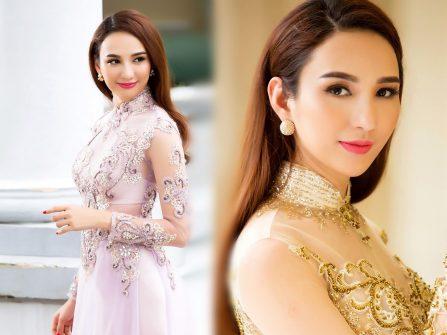 Chọn áo dài cưới đẹp ngút mắt cùng Hoa hậu Ngọc Diễm