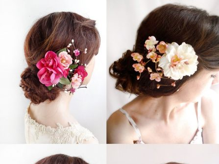 Hoa giả handmade cầu kì điểm tô mái tóc phái đẹp