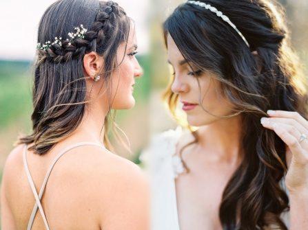 15 mẫu tóc cưới đẹp phá cách cho kiểu tóc xõa đơn giản