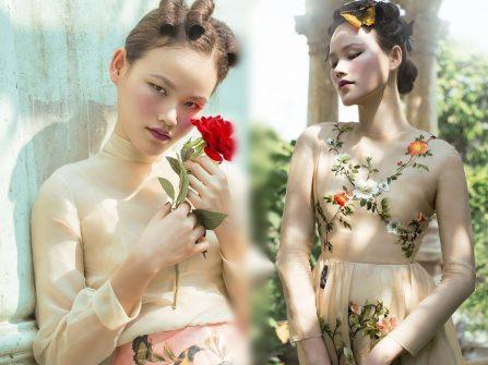 Chọn váy cưới đẹp thêu tay tinh xảo cùng Á quân Next Top Tuyết Lan