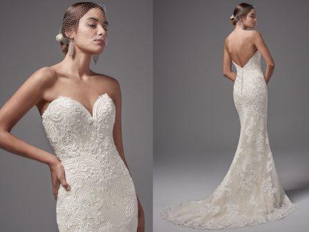 Váy cưới đẹp  - Khoe vai trần gợi cảm cùng váy quây cắt cúp tinh tế