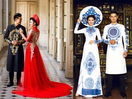 Áo dài cưới nam - trang phục lịch lãm ngày càng được ưa chuộng